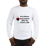 Personalized Wine Gift Long Sleeve T-Shirt