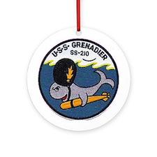 USS Grenadier SS 210 Ornament (Round)