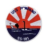 USS Pompano SS 181 Ornament (Round)
