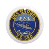 USS Barbel SS 580 Ornament (Round)