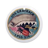 USS Grayback LPSS 574 Ornament (Round)