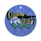 USS Gudgeon # 2 SS 567 Ornament (Round)