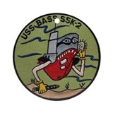 USS Bass SSK-2 Ornament (Round)