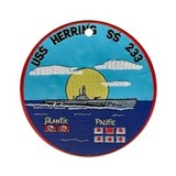 USS Herring SS 233 Ornament (Round)