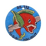 USS Halibut SS 232 Ornament (Round)