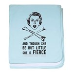 She is Fierce - Punk baby blanket