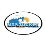 Nantucket MA - Oval Design 38.5 x 24.5 Oval Wall P