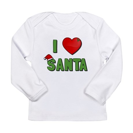 I Love Santa Long Sleeve Infant T-Shirt