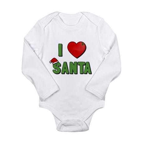 I Love Santa Long Sleeve Infant Bodysuit