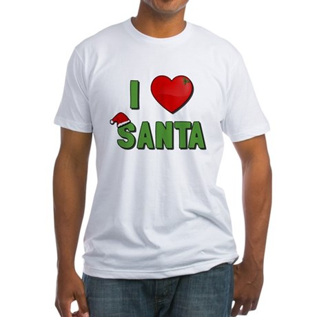 I Love Santa Fitted T-Shirt
