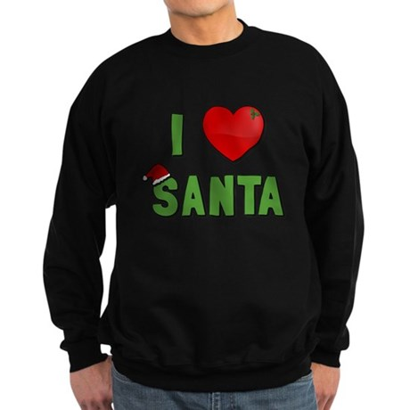 I Love Santa Dark Sweatshirt
