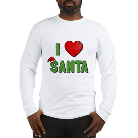 I Love Santa Long Sleeve T-Shirt