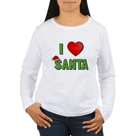 I Love Santa Womens Long Sleeve T-Shirt