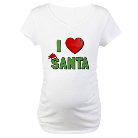 I Love Santa Maternity T-Shirt