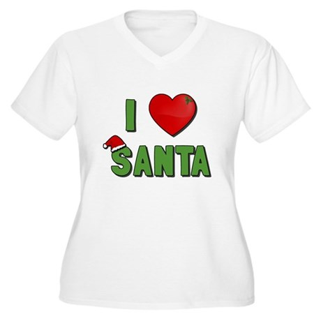 I Love Santa Plus Size V-Neck Shirt