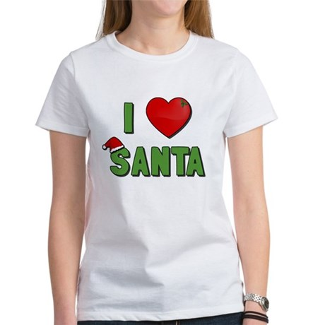 I Love Santa Womens T-Shirt