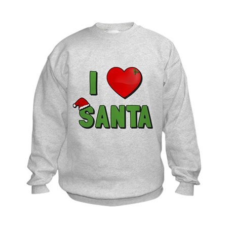 I Love Santa Kids Sweatshirt