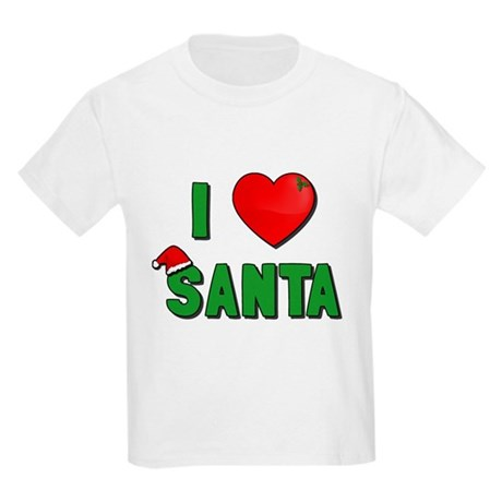 I Love Santa Kids Light T-Shirt