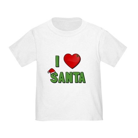 I Love Santa Toddler T-Shirt