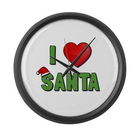 I Love Santa Large Wall Clock