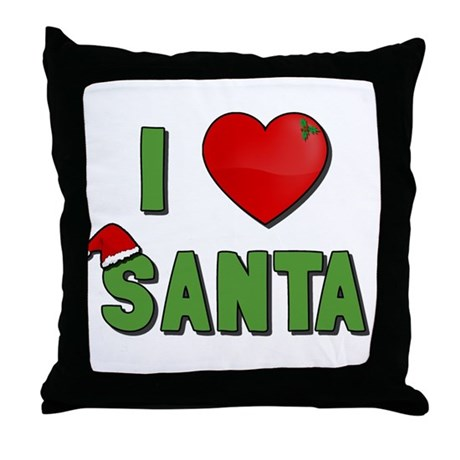 I Love Santa Throw Pillow