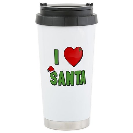I Love Santa Ceramic Travel Mug