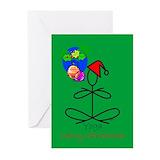 Yoga santa christmas card Greeting Cards (20 Pack)