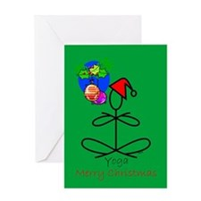 Yoga Santa Greeting Card