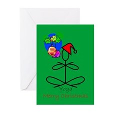Yoga Santa Greeting Cards (Pk of 10)