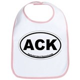 Nantucket MA - Oval Design Bib