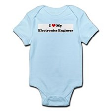 I Love Electronics Engineer Infant Creeper