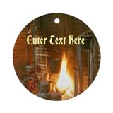 Colonial Fireplace Ornament (Round)