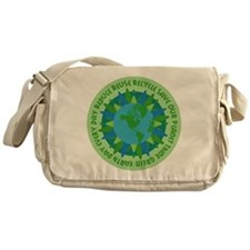 Earth Day Slogans Messenger Bag