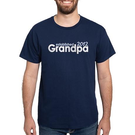 Grandpa Est 2012 Dark T-Shirt