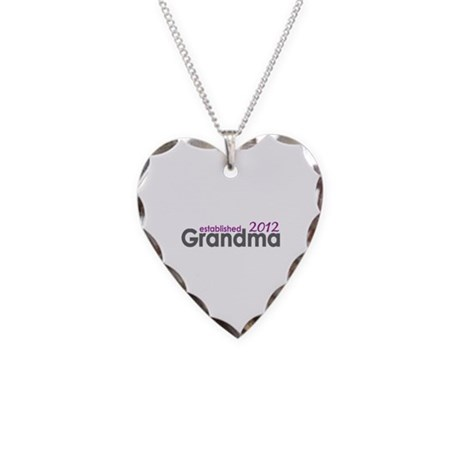 Grandma Est 2012 Necklace Heart Charm