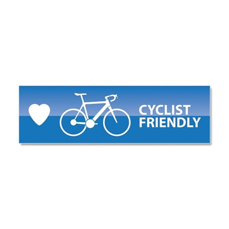 Cyclist Friendly Car Magnet 10 x 3