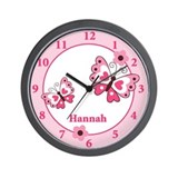 Dancing Butterflies Wall Clock - Hannah