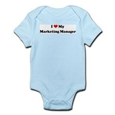 I Love Marketing Manager Infant Creeper