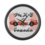Miata MX5 Canada Large Wall Clock