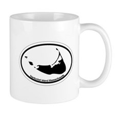 Nantucket MA - Oval Design Mug