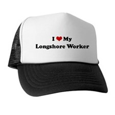I Love Longshore Worker Trucker Hat