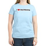 I Love Doll Making Women's Pink T-Shirt