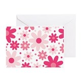 Pretty In Pink Flowers Greeting Cards (Pk of 10)