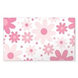 Pretty In Pink Flowers Bumper Stickers