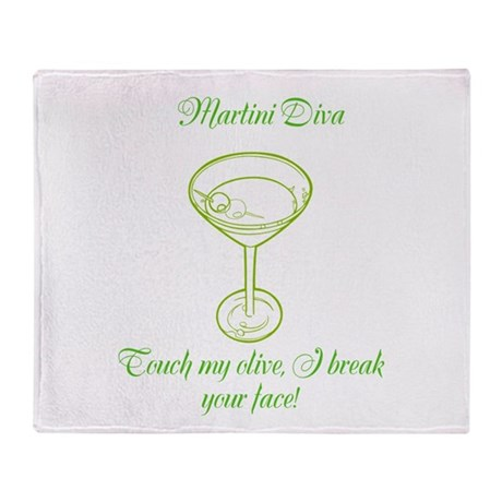 Martini Diva Throw Blanket