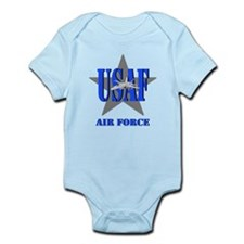 Unique Us air force Infant Bodysuit