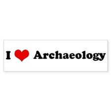 I Love Archaeology Bumper Bumper Sticker