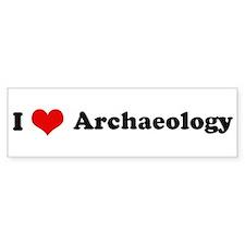 I Love Archaeology Bumper Bumper Sticker