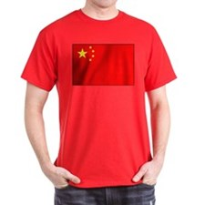 Chinese national Flag Black T-Shirt