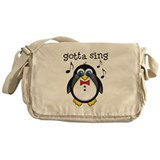 Choir Sing Penguin Music Messenger Bag